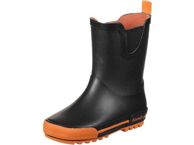 Kamik Rainplay Bottes en caoutchouc Enfants en bas âge, black/orange